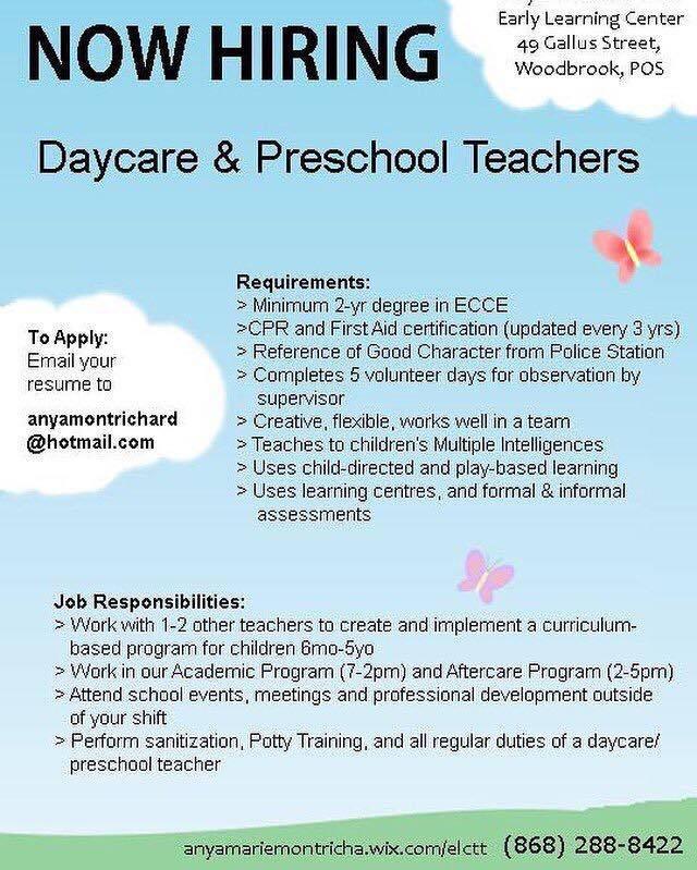 daycare  u0026 preschool teachers